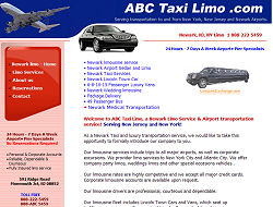 Newark airport Limo Website Design