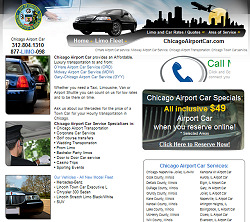 Chicago Airport Car website design