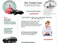DC Town Car Website Design