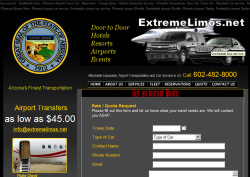Phoenix Limo Website Design