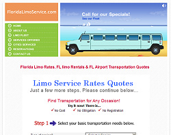 Florida Limo Website Design