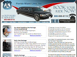 Miami Limo Website Design