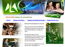 Millennium Limo Website Design