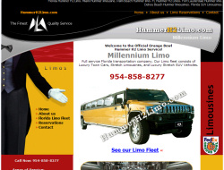 Hummer Limo Website Design