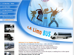 LA Limo Bus website design