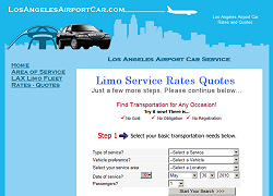 Los Angeles Airport Car website design