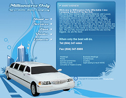 New Orleans Limo Website Design