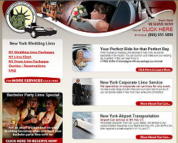 New York Wedding Limo website design