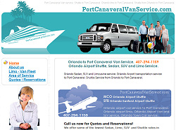 Port Canaveral Limo Website Design