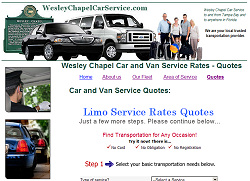 Wesley Chapel Limo Website Design